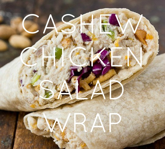 Cashew Chicken Salad Wrap