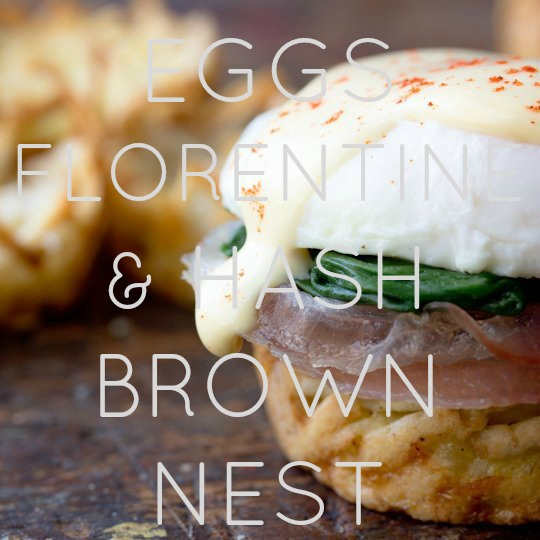 Eggs Florentine & Hash Brown Nest