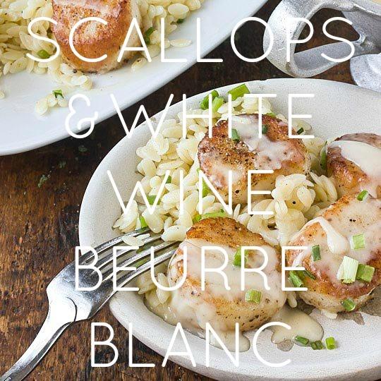 Scallops & White Beurre Blanc