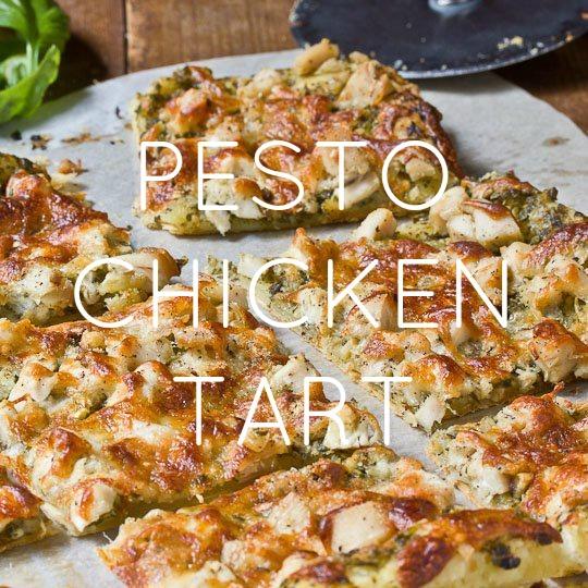 Pesto Chicken Tart