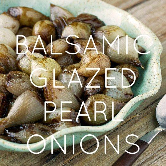 Balsamic Glazed Pearl Onions
