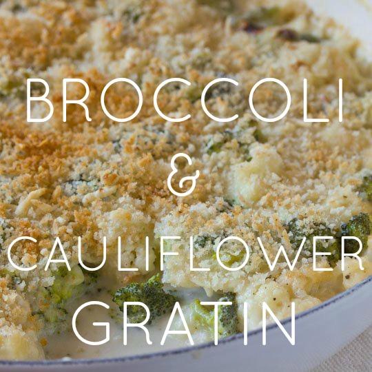 Broccoli & Cauliflower Gratin
