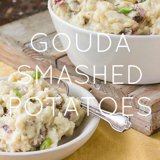 Gouda Smashed Potatoes