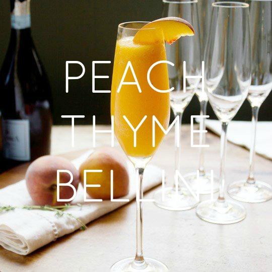 Peach Thyme Bellini