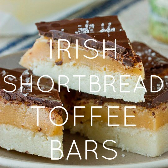 Irish Shortbread Toffee Bars