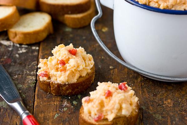 Pimento Cheese Crostini | Dixie Caviar