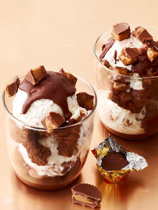 Reese's Soft-Serve Brownie Parfaits | Dixie Caviar (photo credit: Andrew Purcell for Redbook)