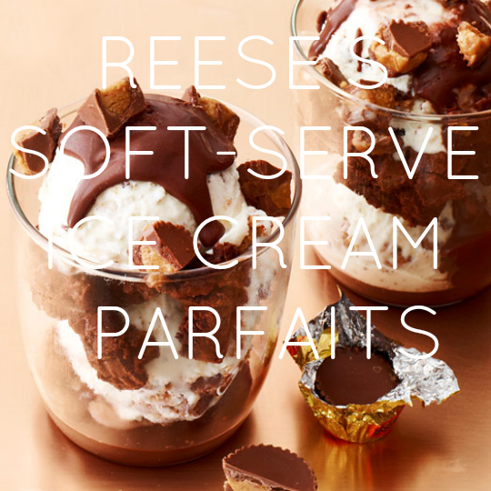 Reese's Soft-Serve Ice Cream Parfaits