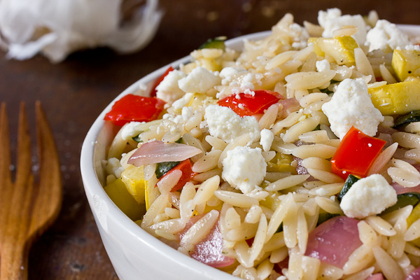 Orzo Salad with Summer Vegetables