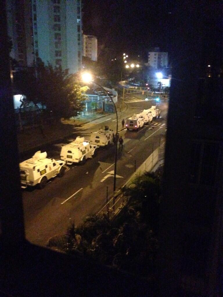 Armored cars in El Marques, Caracas.
