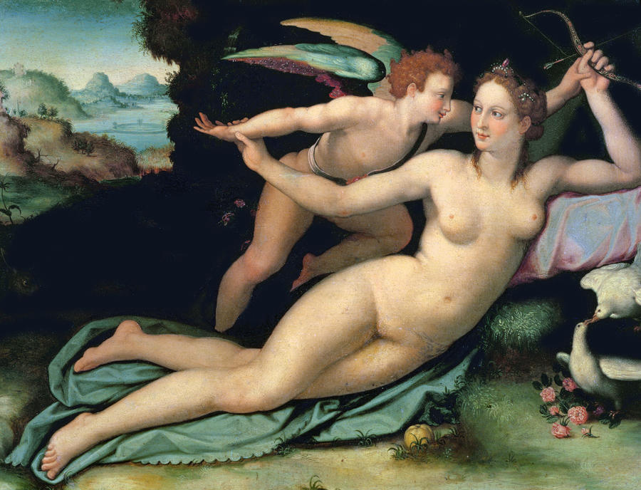 Venus and Cupid by Alessandro Allori