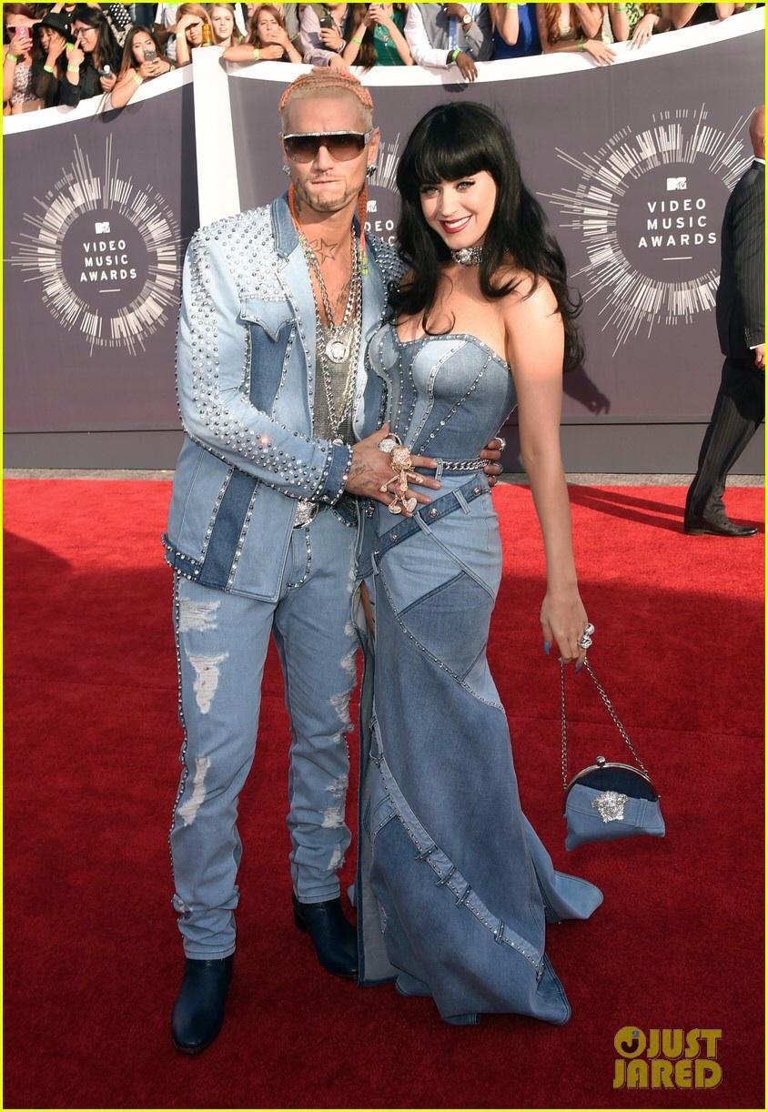 El vestido de jean de Katy Perry en los 2014 VMAs.
