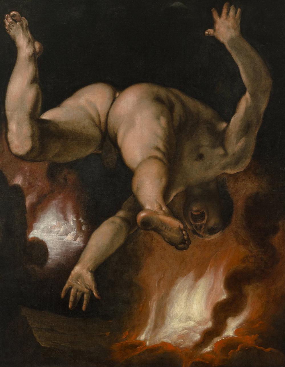 La caída de Ixión (1588) - Cornelis Van Haarlem.