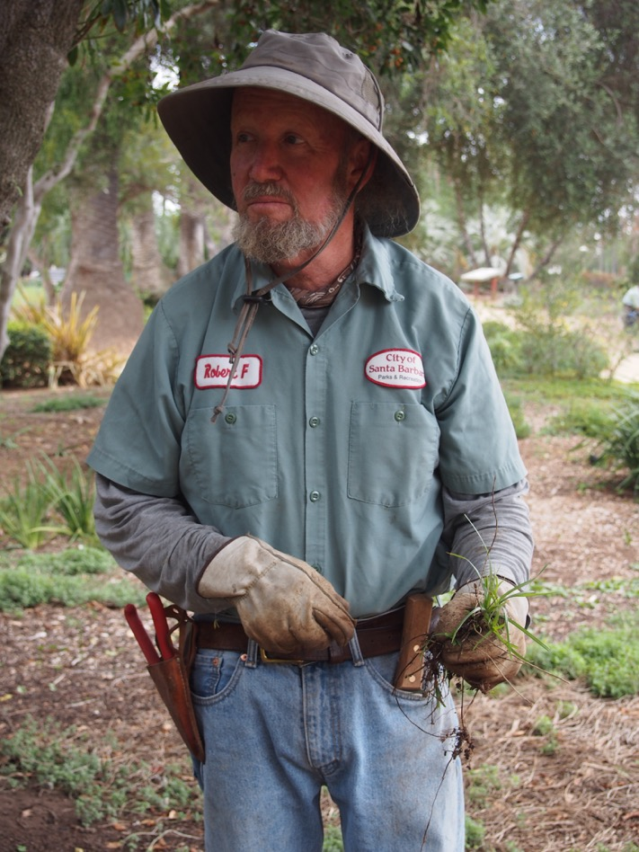 Robert Funai,  one-time SBCC Environmental Horticulture student and long-time GS employee. Currently works for the City Of Santa Barbara Parks and Recreation.