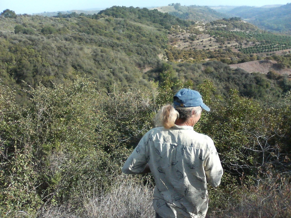 Don surveys the edge ecology  between farm and wilderness.