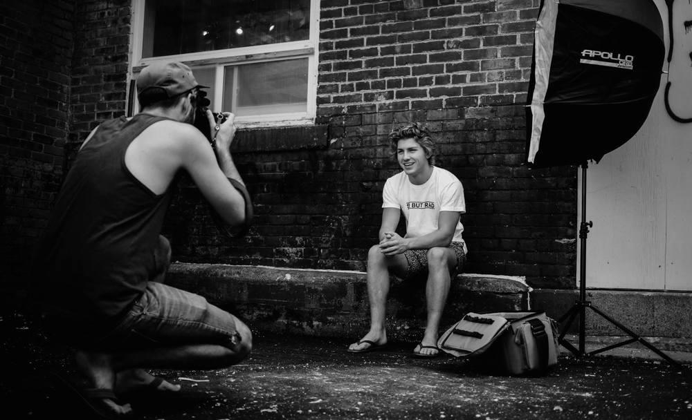 Behind the scenes photo by Brock Jorgensen