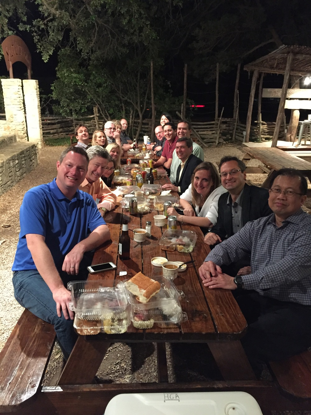 Networking over bbq at the Salt Lick