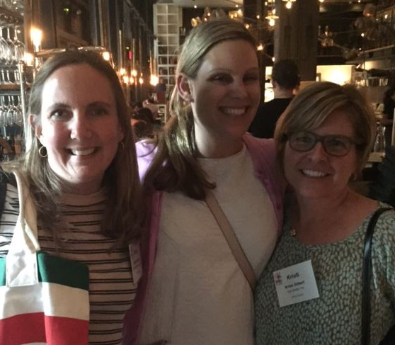 Betsy Hobbs Wagner at far left, networking with some new CREW friends in Toronto for the CREW Leadership Summit.