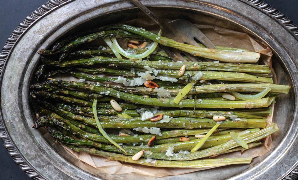 roasted asparagus with lemon and truffle
