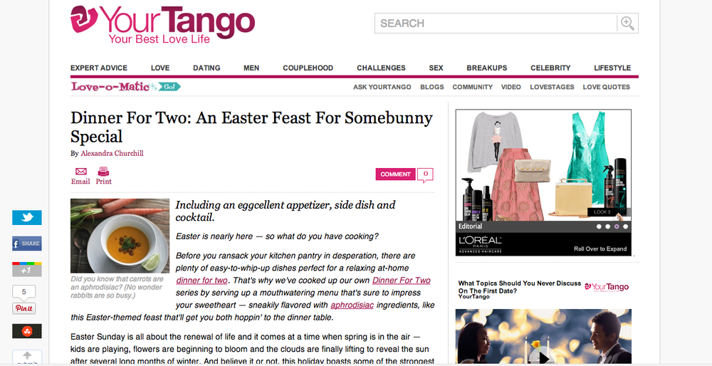 YOUR TANGO, APRIL 18 2014