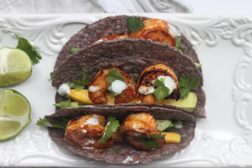 Caribbean Shrimp Tacos With Mango