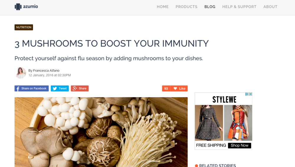 mushrooms and immune system