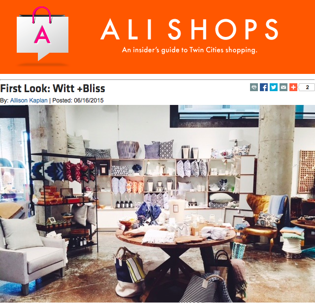 June 16, 2015 - Ali Shops - MSP Mag - Witt + Bliss moves in!