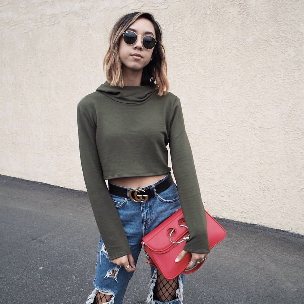 Stephanie Heyden of  Unconscious Style  wearing the Crop Hoodie