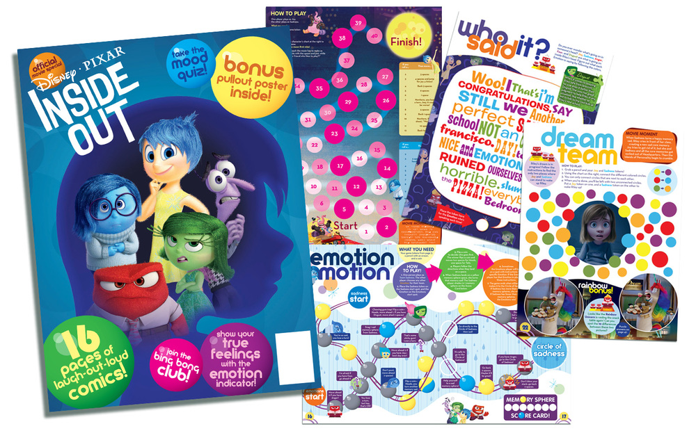 DISNEY•PIXAR INSIDE OUT OFFICIAL MOVIE MAGAZINE