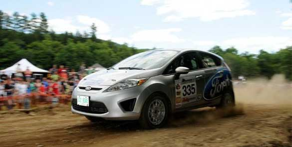 Verena Mei in action at her first rally in 2011