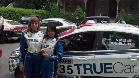 Verena Mei & Leanne Junnila ready to race STPR Rally!