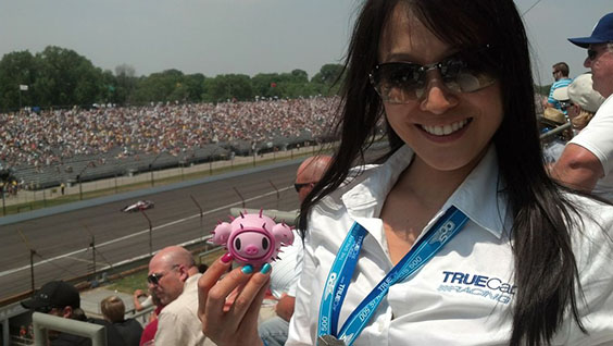 Verena & Porcino at their first Indy 500!