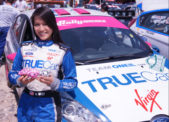 Verena shows off the tokidoki Porcino family at New England Forest Rally