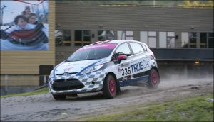 Verena in action at New England Forest Rally