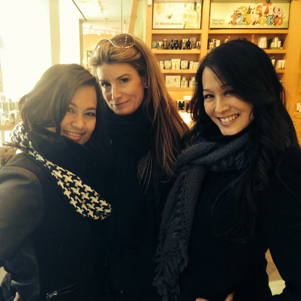 Emshika, Candace and I on a shopping mission in NYC!
