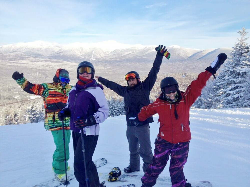 Snowboarding with the team from Badass Outdoors and Schilling!