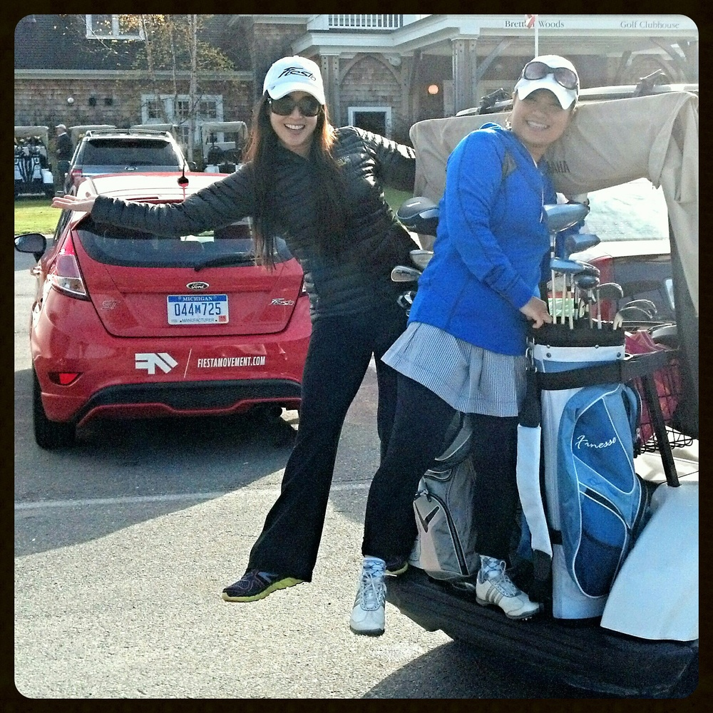 Me & my best friend Emshika on our own golfing mission!