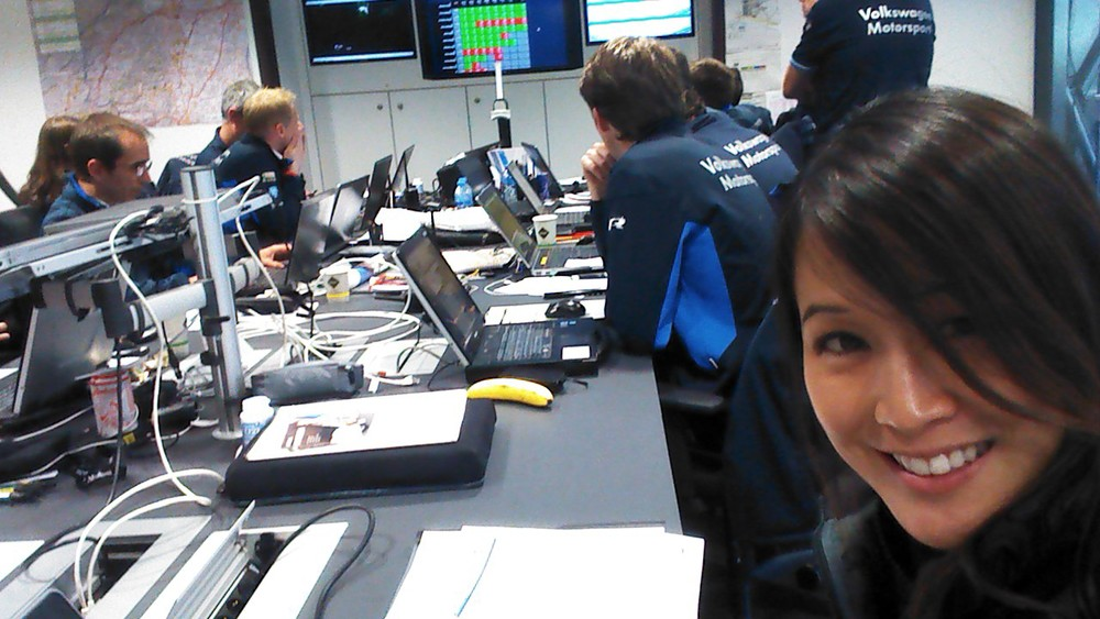 Volkswagen Motorsport mission control at Rallye de France