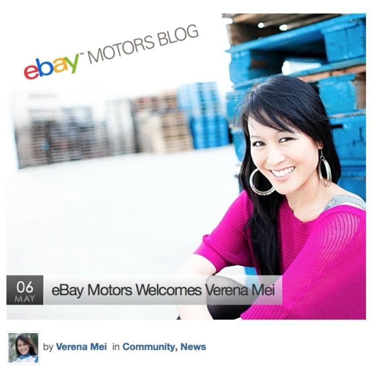 I\'m the Newest Contributor for ebay Motors Blog! — Verena Mei
