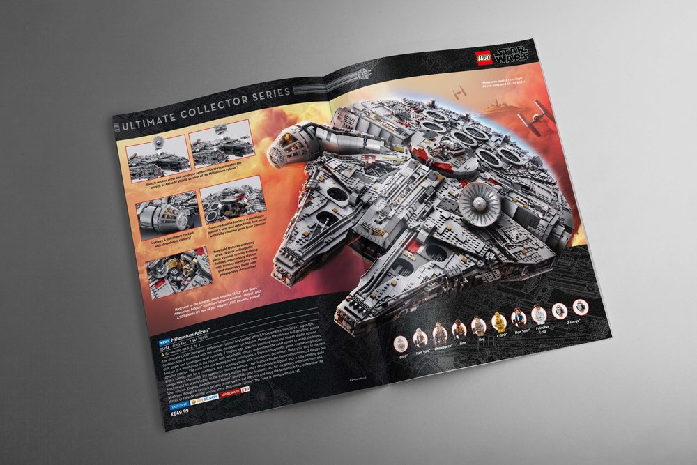 2017 Europe Holiday Catalog   Center spread showcasing the most anticipated and biggest LEGO set ever!