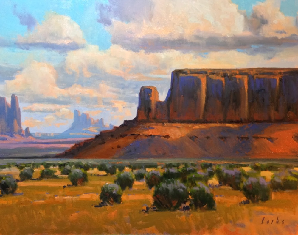 David Forks  Monuments of Time  16X20  Oil