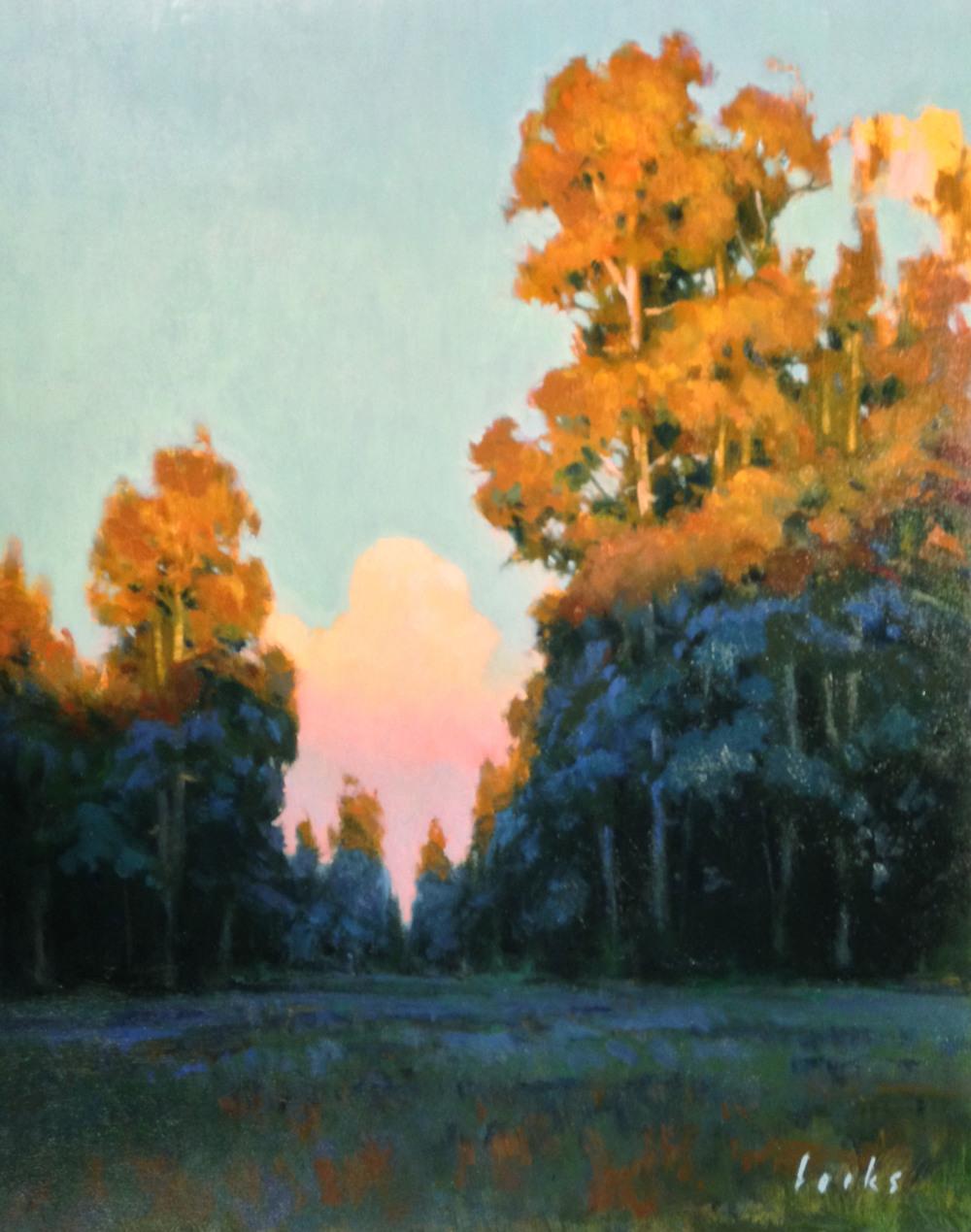 David Forks  Sundown in Cypresswood  20X16  Oil on Panel