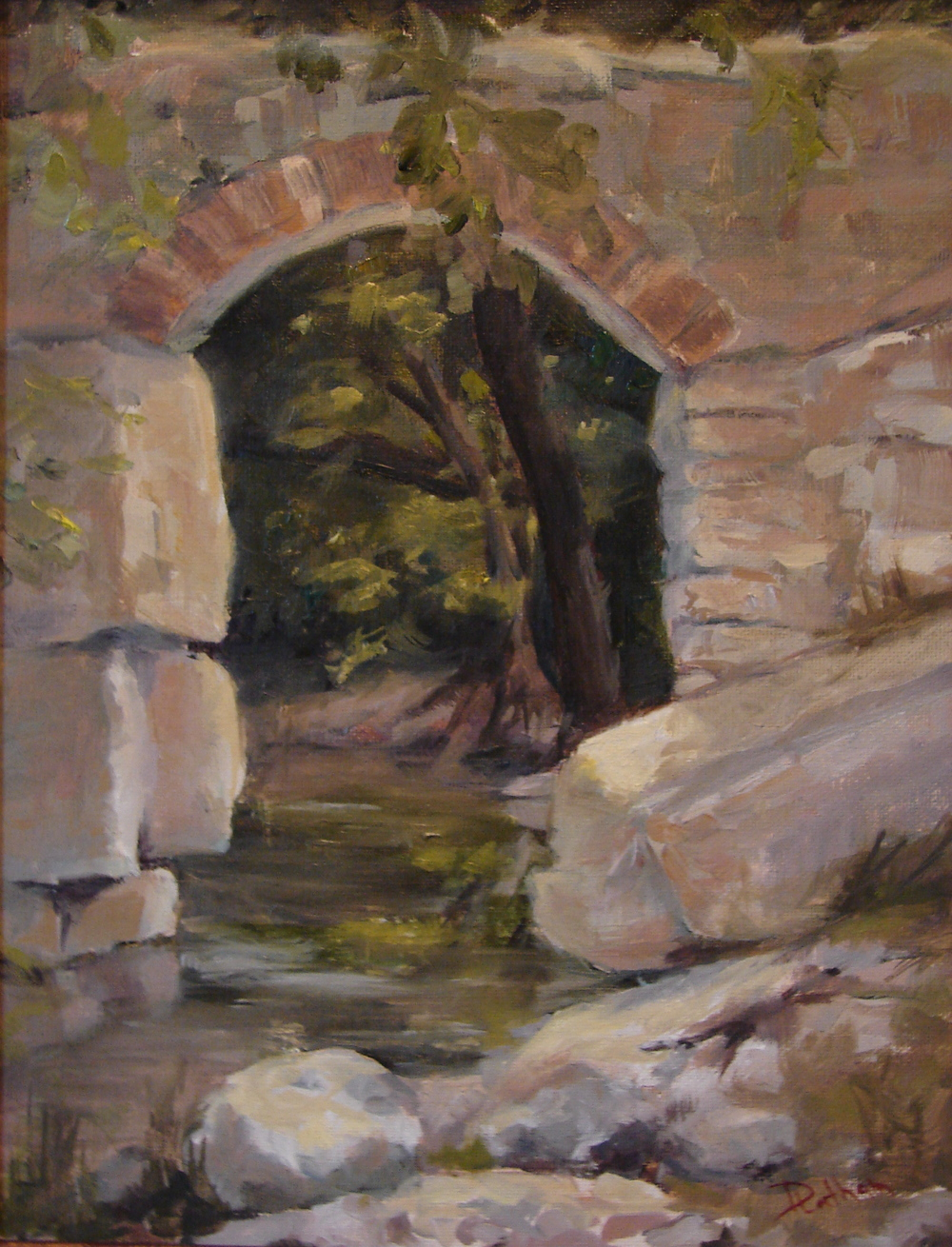 Debra Latham  Creek Under 5th  14X11  Oil on Canvas