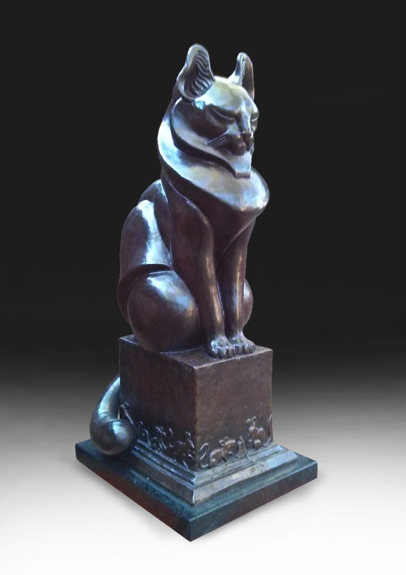 Deran Wright  A Waiting Game Cat  24.5X10.25  Bronze