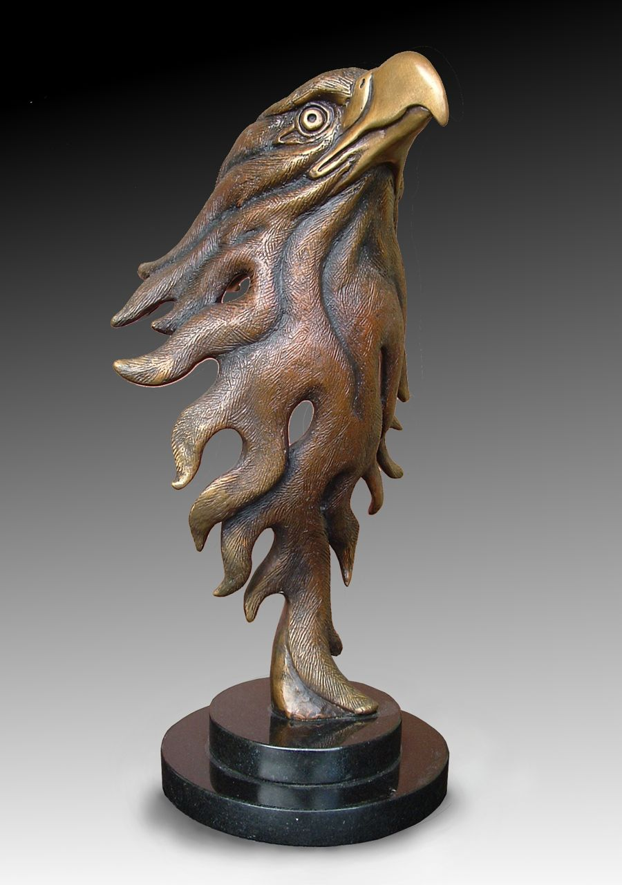 Deran Wright  Blaze of Glory  14.5X7.5  Bronze  SOLD