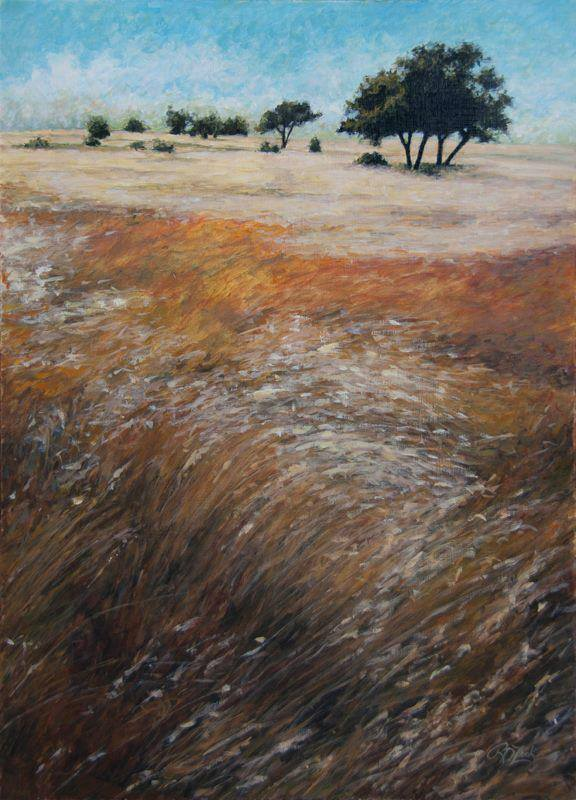 Rebecca Zook  Grasslands II  20X14  Acrylic on Masonite
