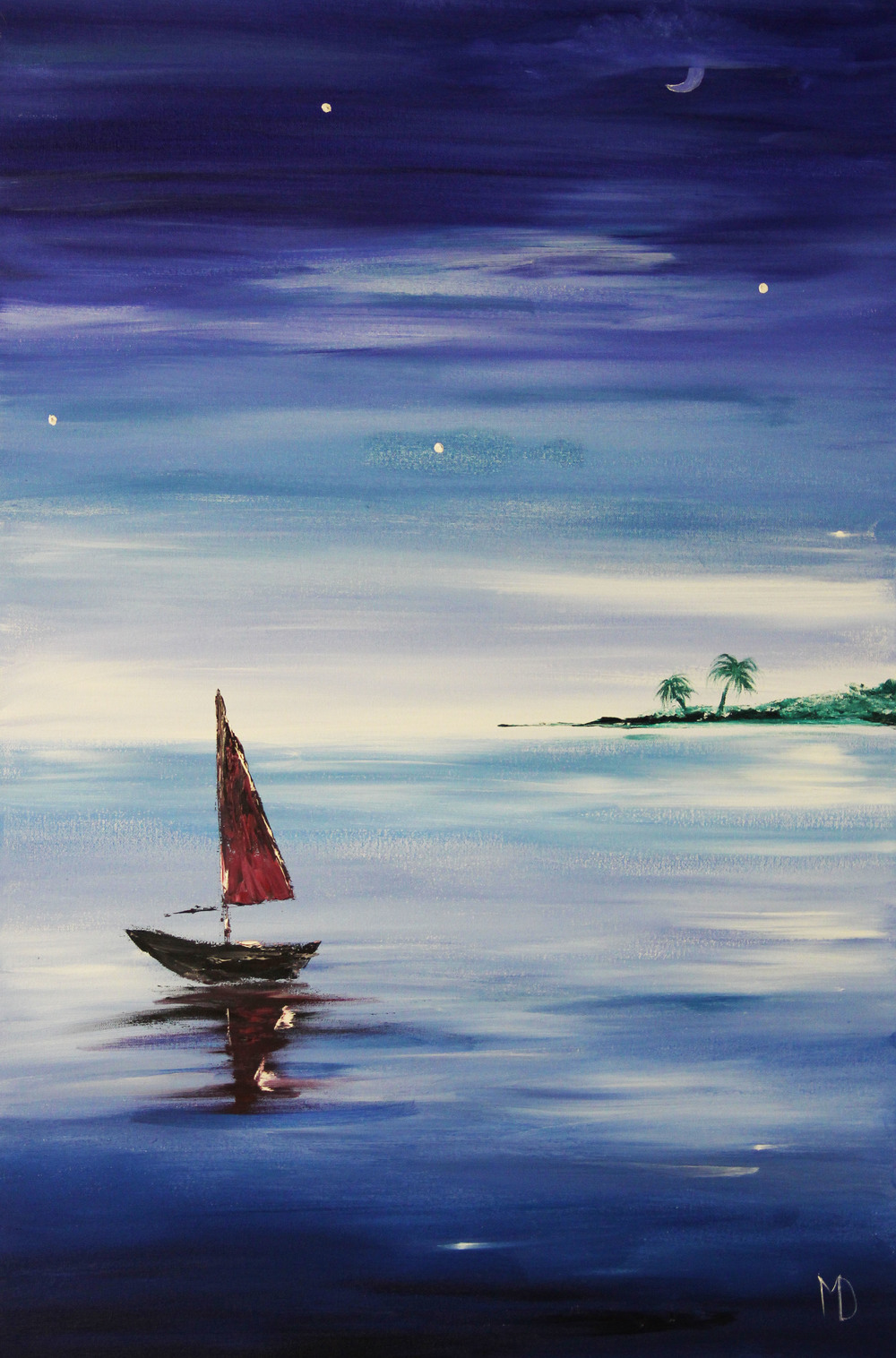 Melissa Davis Doron  Sailboat Savvy  24X36  Oil on Canvas