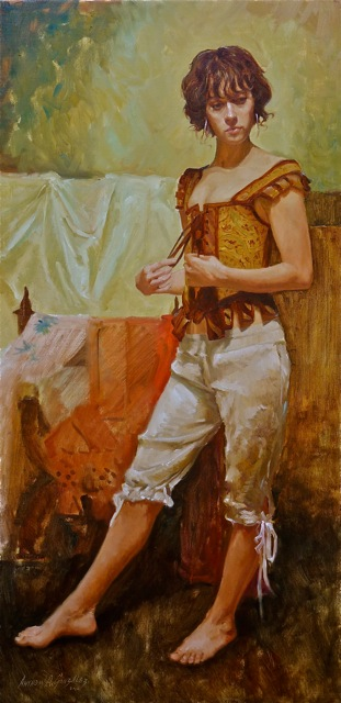 Anthony A. Gonzales  It May Be So  36X18  Oil on Linen