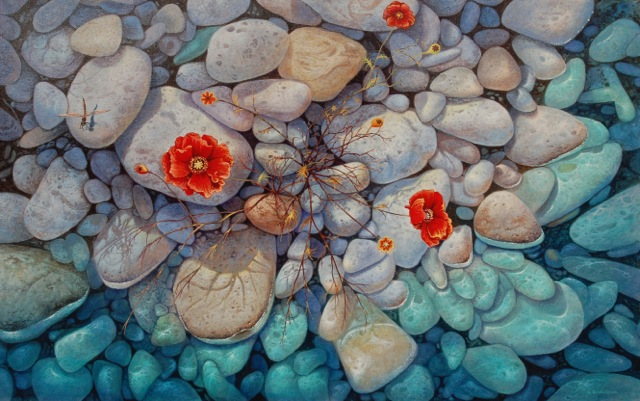 Gregory Carr Simmons  Coastal Poppies  30X47  Acrylic