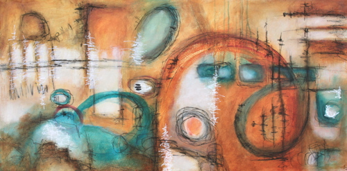Leah Fitts  All Attempts at Communication Have Failed  24X48  Acrylic
